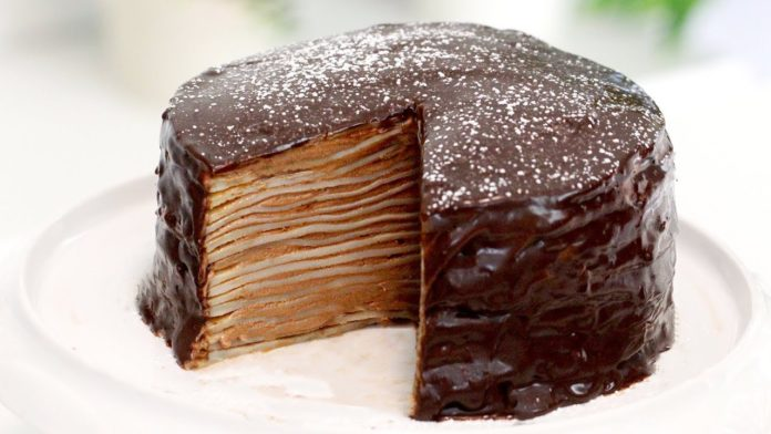 Chocolate Hazelnut Crepe Cake