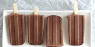 Healthy chocolate fudge ice pop