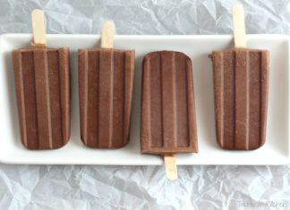 Healthy chocolate fudge ice pop