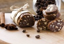 Italian chocolate salami rolls