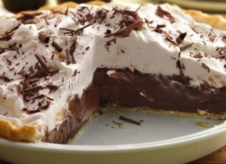 Mexican chocolate cream pie
