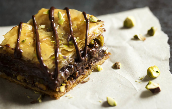 Rich Pistachio and Chocolate Baklava
