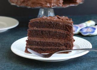 Triple chocolate layer cake recipe