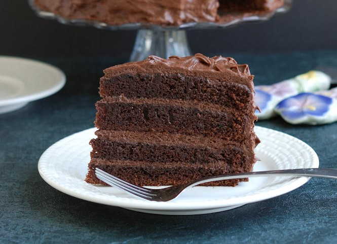 Triple chocolate layer cake recipe