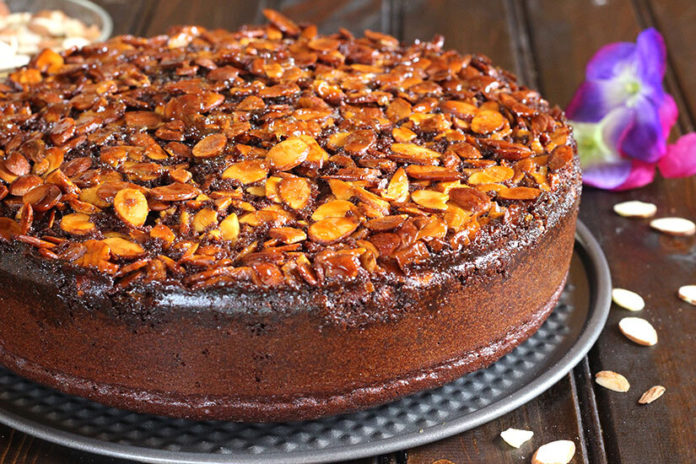 chocola Upside down Almond cake