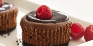 mini chocolate cheesecake
