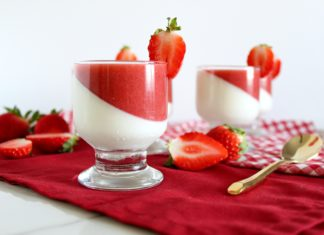 White Chocolate Strawberry PannaCotta