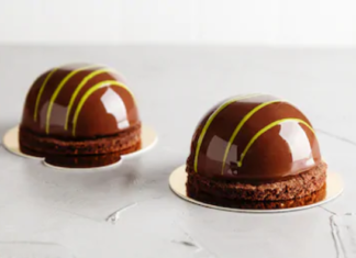 Hazelnut Chocolate dome cakes Recipe