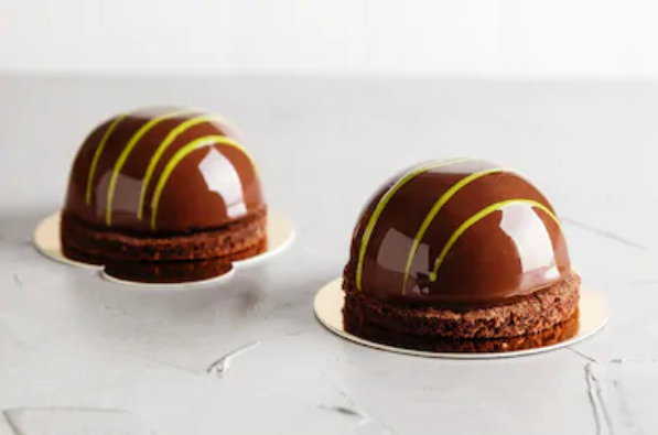 Hazelnut Chocolate dome cakes Recipe