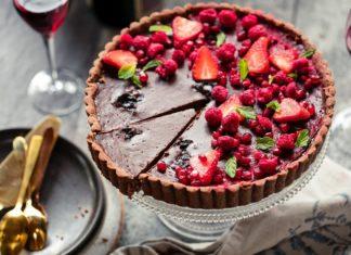 Dark Chocolate Berries Tart Recipe