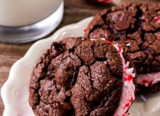 Chocolate Peppermint SandwichCookies Recipe