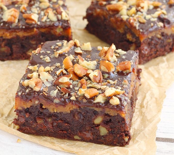 Chocolate-Caramel-Fudge Brownies Recipe