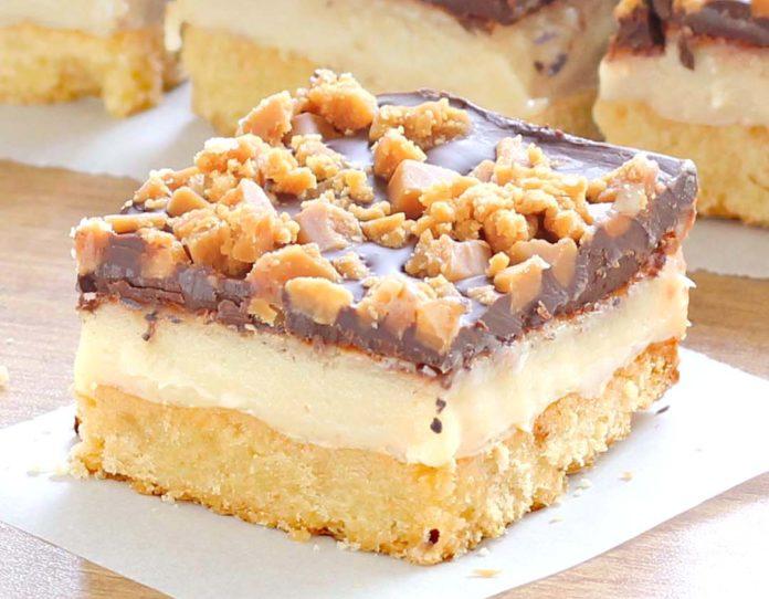 Chocolate Toffee Bars Recipe