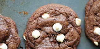 Chocolate Chocolate White Chocolate Chip Cookies recipe