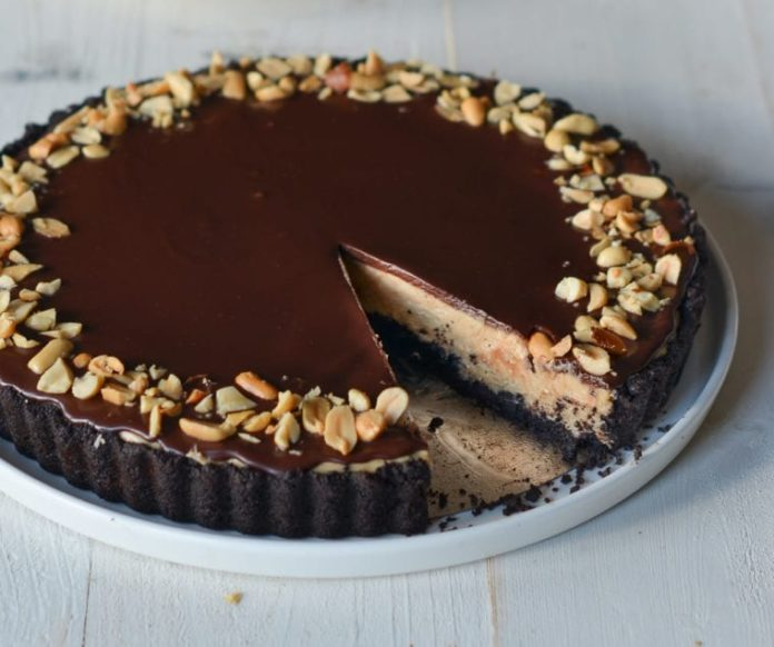 No Bake Chocolate Peanut Butter Pie