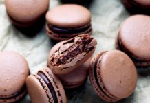 Chocolate Macarons with Chocolate Ganache Recipe