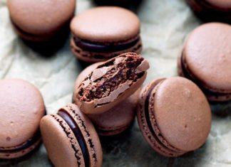 Chocolate Macarons with Chocolate Ganache Recipe