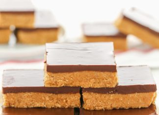 No Bake PeanutButter Bars